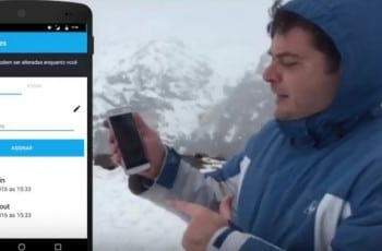 Check-in sem internet até na neve!