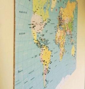 mapa de alfinetes