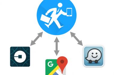 Integração do Contele GE com o Google Maps, Waze e Uber