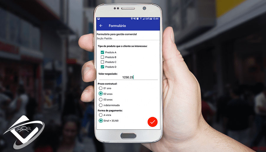 Gestão Comercial utilizando aplicativo Contele