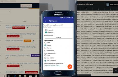 Gestão comercial usando aplicativo com formulário (Continuação)