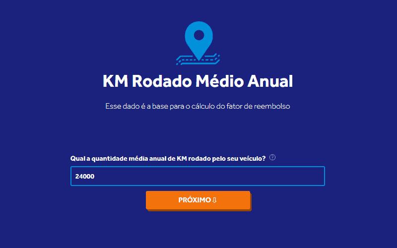 Calculadora de Reembolso por KM Rodado: Quilometragem Média