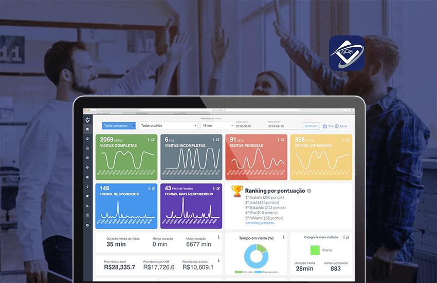 Produtividade da Equipe Externa: Conheça o novo dashboard do Contele Gestor de Equipes